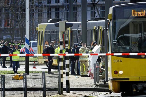 Imagen del escenario del tiroteo en el centro de Utrecht.