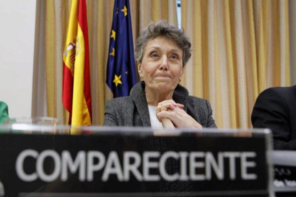 Rosa María Mateo, administradora provisional única de RTVE, en comisión mixta de control parlamentario.