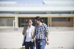 Pablo Iglesias y Jaume Asens, tras visitar a los presos soberanistas en Estremera en julio