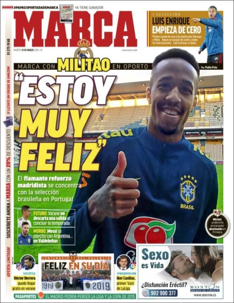 Así vienen las portadas de los diarios deportivos