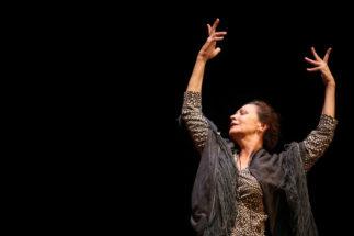 La maestra Merche Esmeralda en su última aparición en la Bienal 2014.
