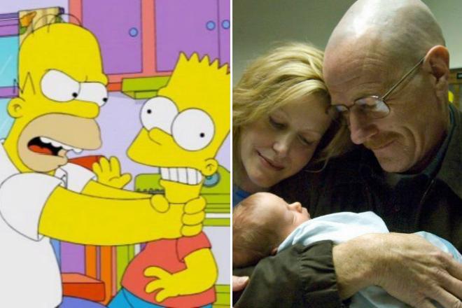 Homer Simpson y Walter White entre los peores padre de la tv