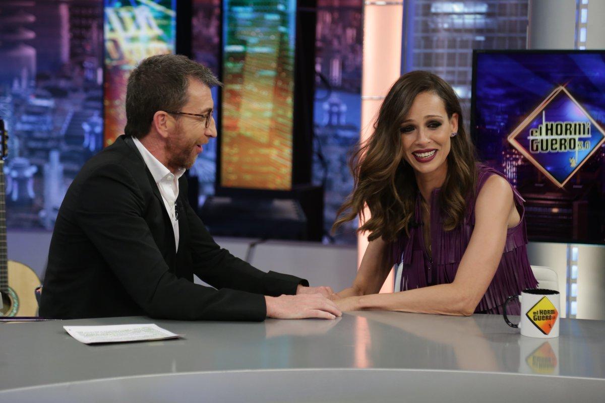 Pablo Motos y Eva González hablan de La Voz en El Hormiguero en Antena 3