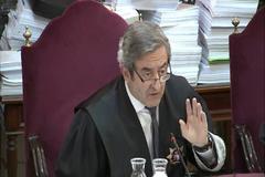 El fiscal Javier Zaragoza, durante su interrogatorio en el juicio.