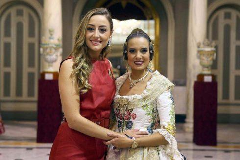Rocío Gil y Marina Civera, falleras mayores de Valencia en 2018 y 2019.