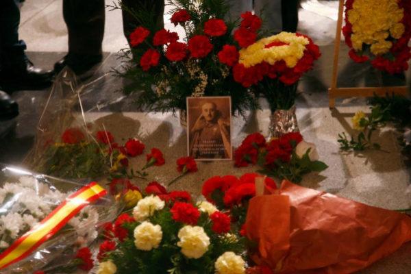 La tumba de Franco en la basílica del Valle de los Caídos.
