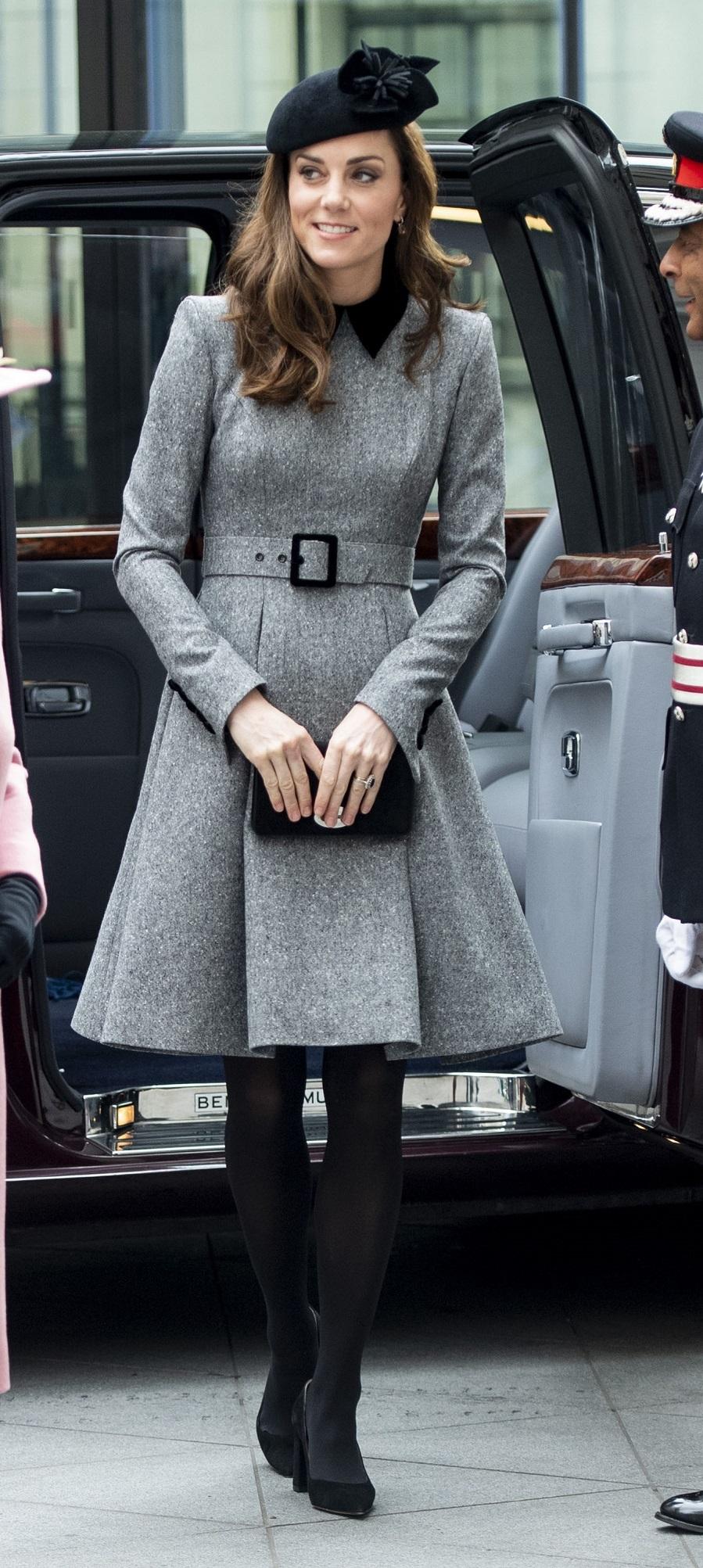 El estilo de Kate Middleton  - Abrigo vestido de Catherine Walker