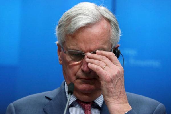 Michel Barnier, durante la rueda de prensa de este martes.