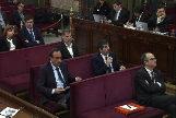 Los acusados durante el juicio del 1-O