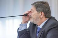 El ex director general de Trabajo Francisco Javier Guerrero, en el juicio.