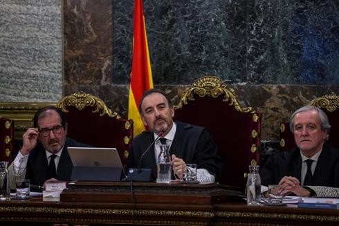 El presidente del tribunal, Manuel Marchena, durante el juicio