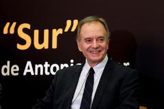 Antonio Soler en el acto en el que ha recibido el Premio Francisco Umbral.