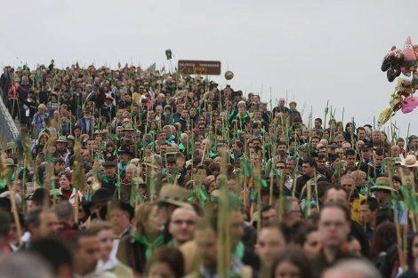 La Romeria es el acto grande de las fiestas.