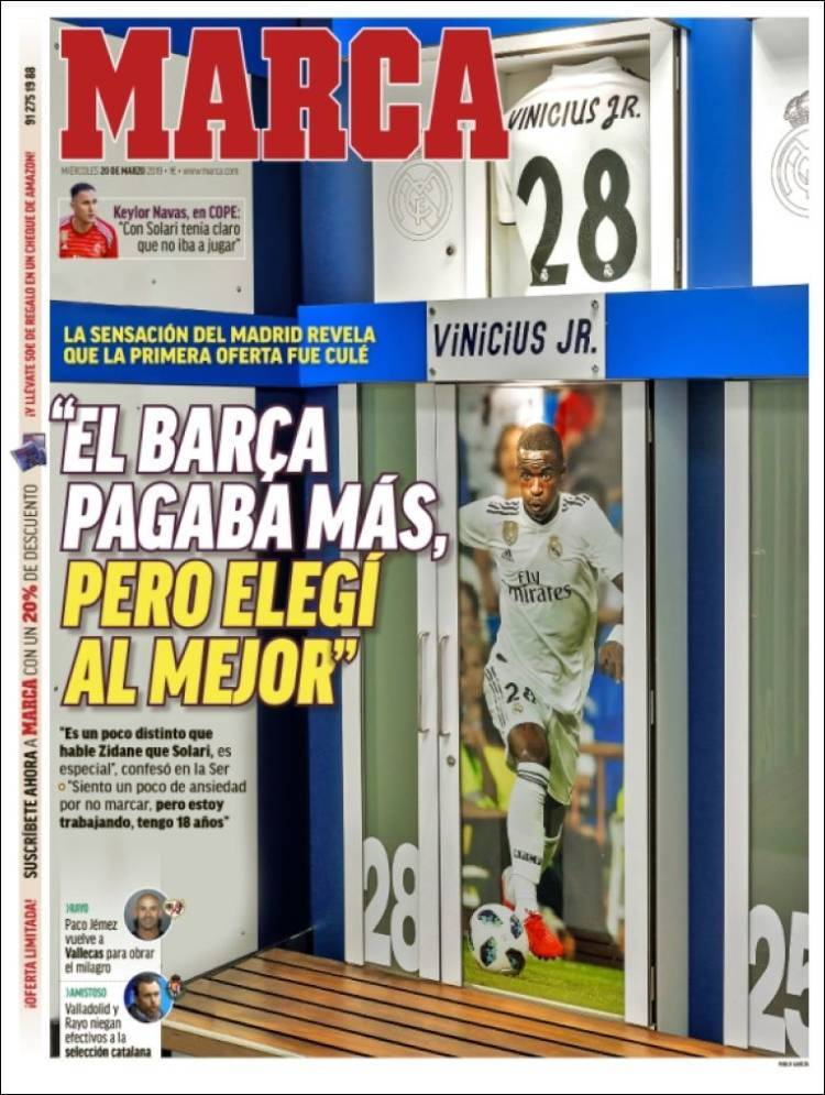 Las portadas de los periódicos deportivos del 20 de marzo