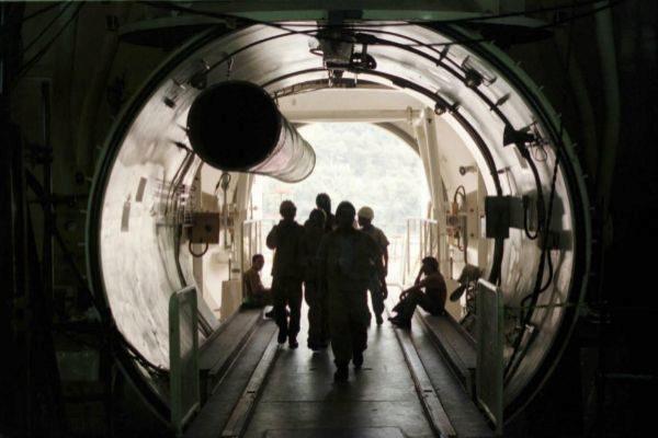 Trabajadores en el reactor nuclear Angra 2, en Angra dos Reis.