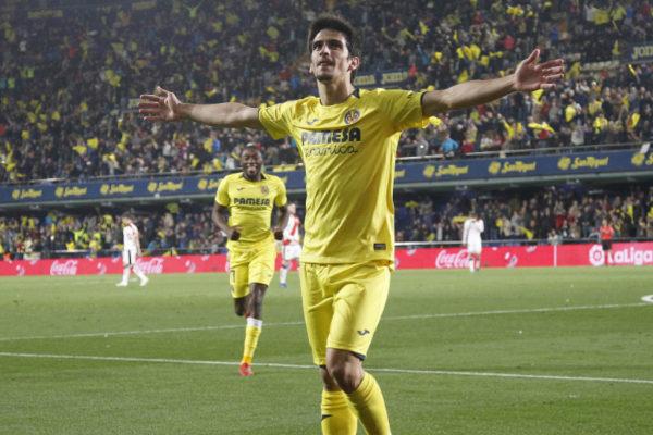 Gerard celebra su gol al Rayo Vallecano.