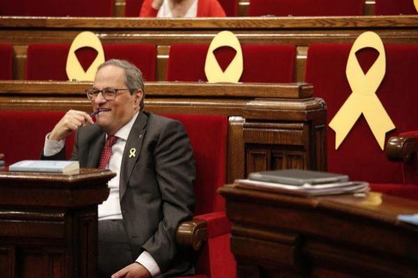 Barcelona, 20.03.2019 Pleno del <HIT>Parlament</HIT> de Catalunya y sesión de control al gobierno de la Generalitat presidido por Quim Torra.