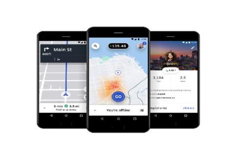 Aplicación de Uber para sus conductores.