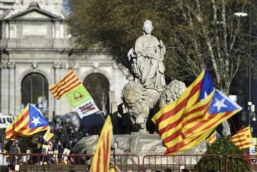 Manifestación independentista en Madrid, el pasado fin de semana.