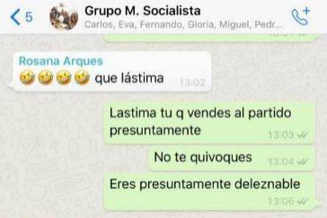 Una concejal del PSOE airea en Facebook la bronca de su grupo por WhatsApp