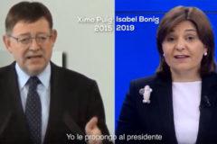 El PP lanza un ultimátum a Puig para que acepte el cara a cara con Bonig