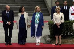 La alcaldesa, Manuela Carmena, en un homenaje a los militares caídos por España en 2016.