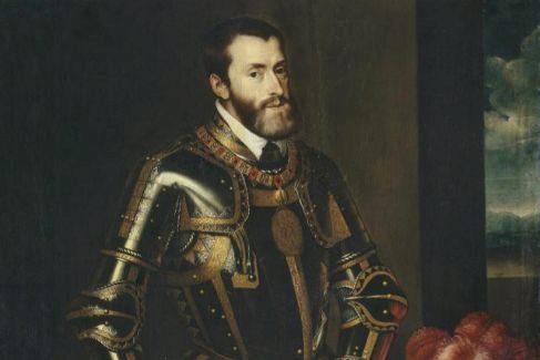 Carlos V, retratado por Pantoja de la Cruz, en 1603.