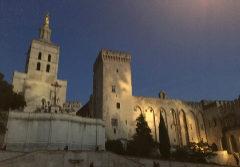 El Palacio de los Papas con la Catedral de Notre Dame des Doms (izda.).