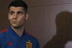 GRAF7236. LAS ROZAS, 20/02/2019.- El delantero de la selección española de fútbol, Álvaro <HIT>Morata</HIT>, durante la rueda de prensa en la Ciudad del Fútbol de Las Rozas.