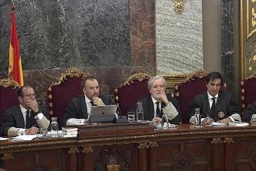 El tribunal que juzga a los acusados del 'procés'.