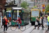 Una de las principales avenidas de Helsinki.