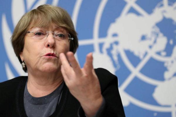Michelle Bachelet, en una rueda de prensa en diciembre.