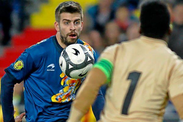 Piqué, con la selección catalana.