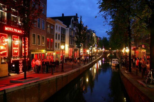 Barrio rojo de Ámsterdam.