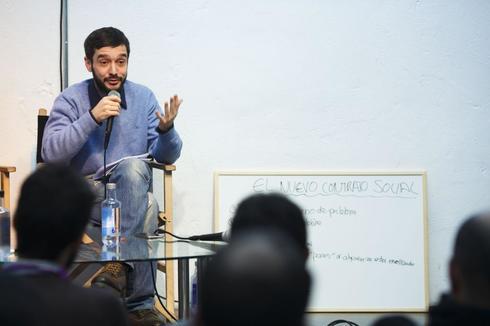 Pablo Bustinduy, en un acto de Podemos celebrado en 2016.