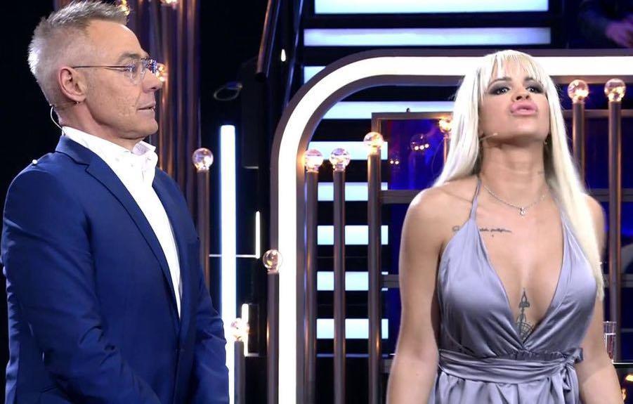 Jordi González e Ylenia Padilla en el plató de Gran Hermano Dúo
