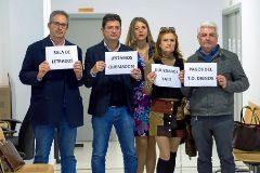 Protesta de abogados durante la visita de Antoni Terrasa al edificio del Cetis en Ibiza a finales de febrero.