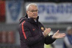 Claudio Ranieri, en el banquillo de la Roma, su actual equipo.