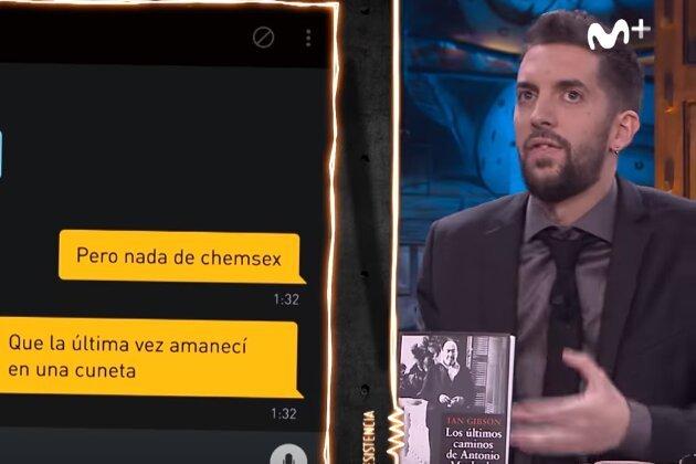 David Broncano bromea con la muerte de Lorca en un perfil de Grindr en La Resistencia