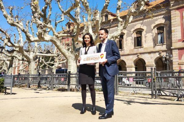 Inés Arrimadas y  el candidato por Madrid al Congreso Edmundo Bal