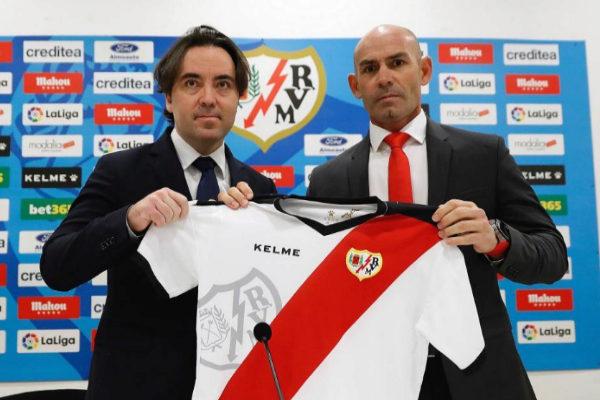 Martín Presa y Jémez, durante la presentación del técnico del Rayo.