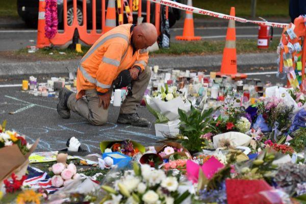 Muestras de condolencia a las víctimas del atentado de Christchurch (Nueva Zelanda).