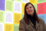 GRAFCAV2771. BILBAO.-La artista neoconceptual estadounidense Jenny <HIT>Holzer</HIT>, ante una obra suya en la exposición que el Museo Guggenheim dedica a quien hace del lenguaje y la palabra el eje fundamental de su obra.