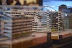Maqueta de una promoción inmobiliaria en Madrid.