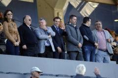 Los dirigentes del Hércules, Juan Carlos Ramírez, Valentín Botella y Carlos Parodi.