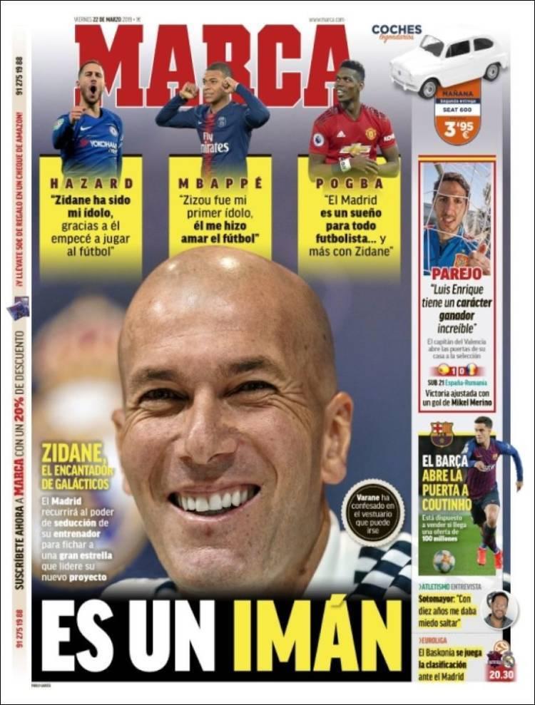Las portadas de la prensa deportiva (22/03/19)