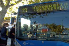 Un autobús de la EMT de Palma que enlaza Palma con la Universidad.