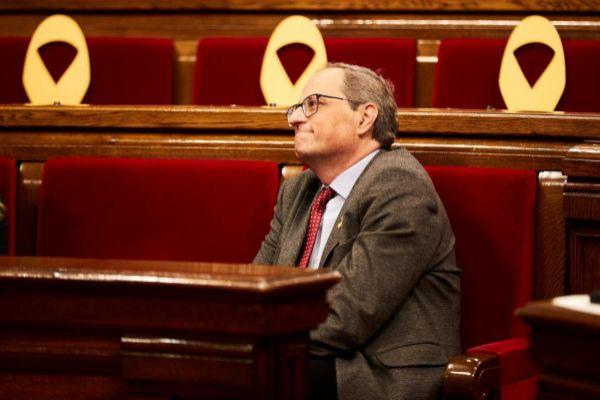El presidente de la Generalitat, Quim Torra, en el Parlament