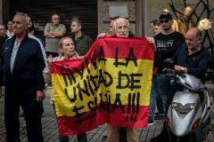 José Luis Roberto, uno de los líderes de España 2000, durante una protesta.