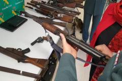 Detenido con 121 armas en su casa de Béjar